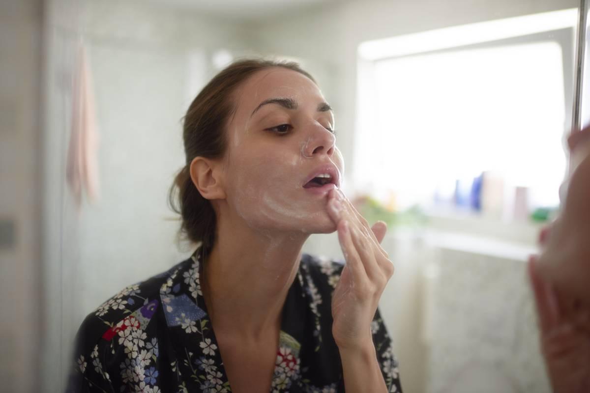 Gesicht nur mit wasser waschen