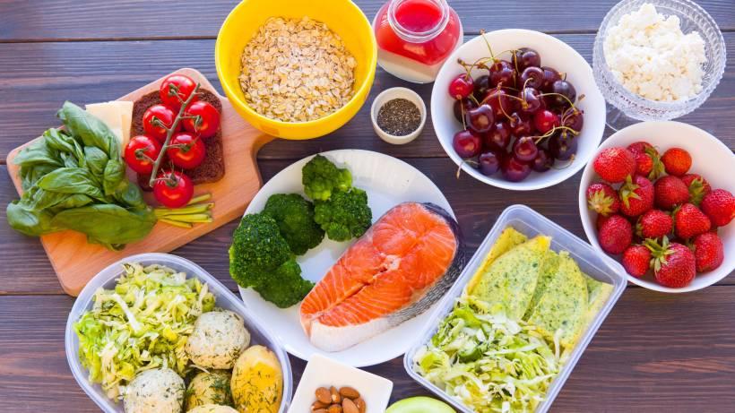 Abendessen mit Fisch zum Abnehmen