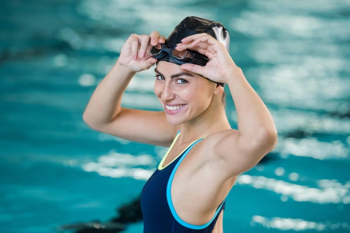 Schwimmen schlank