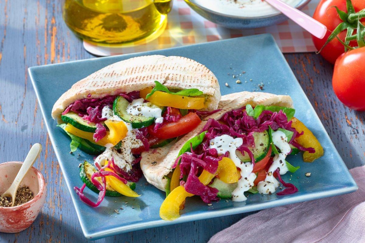Vegetarischer Gemüse-Döner: schnell gemacht und lecker!