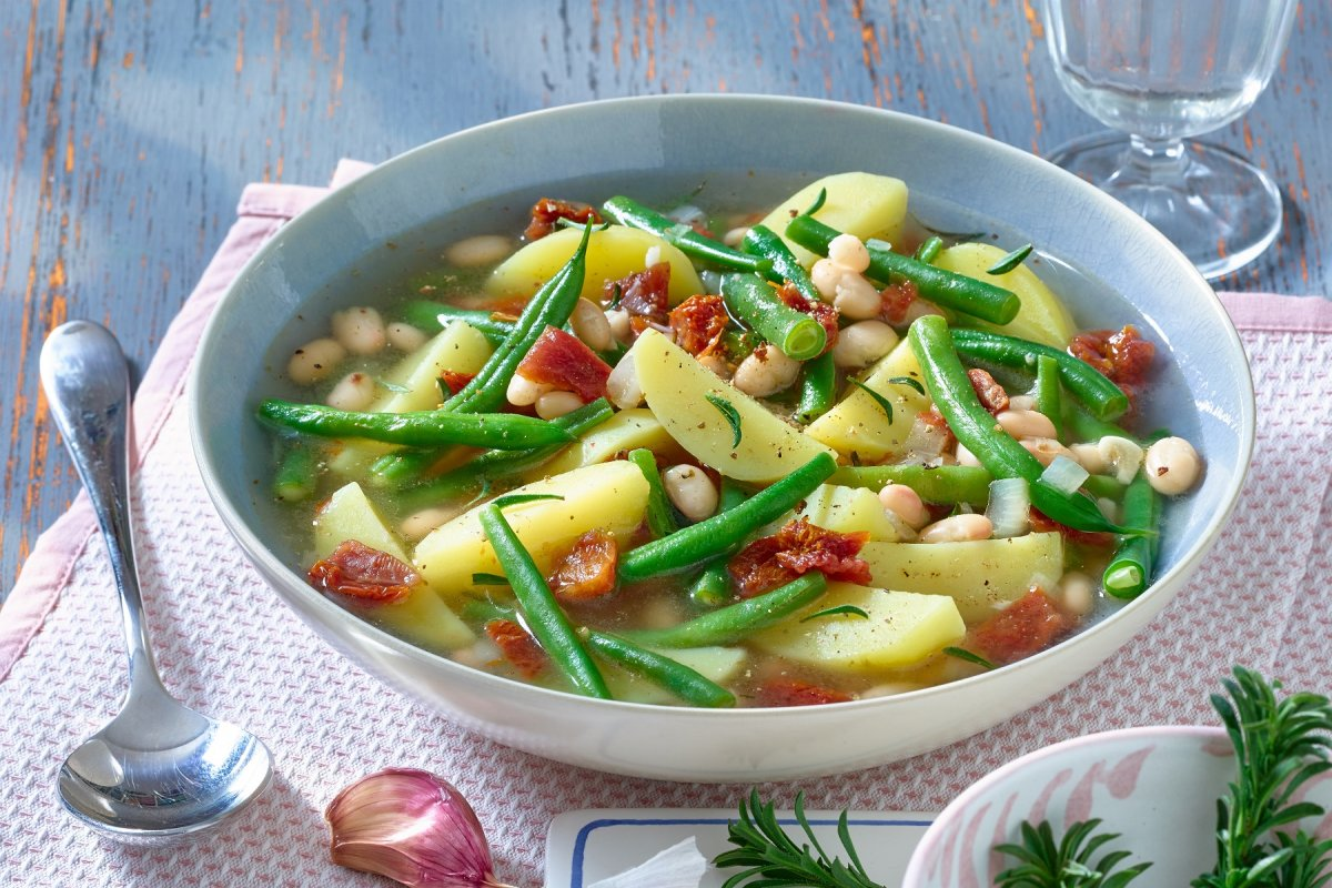 Rezept für Kartoffel-Bohnen-Topf