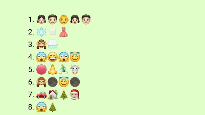 weihnachtslieder welche verstecken sich hinter den emojis. Black Bedroom Furniture Sets. Home Design Ideas
