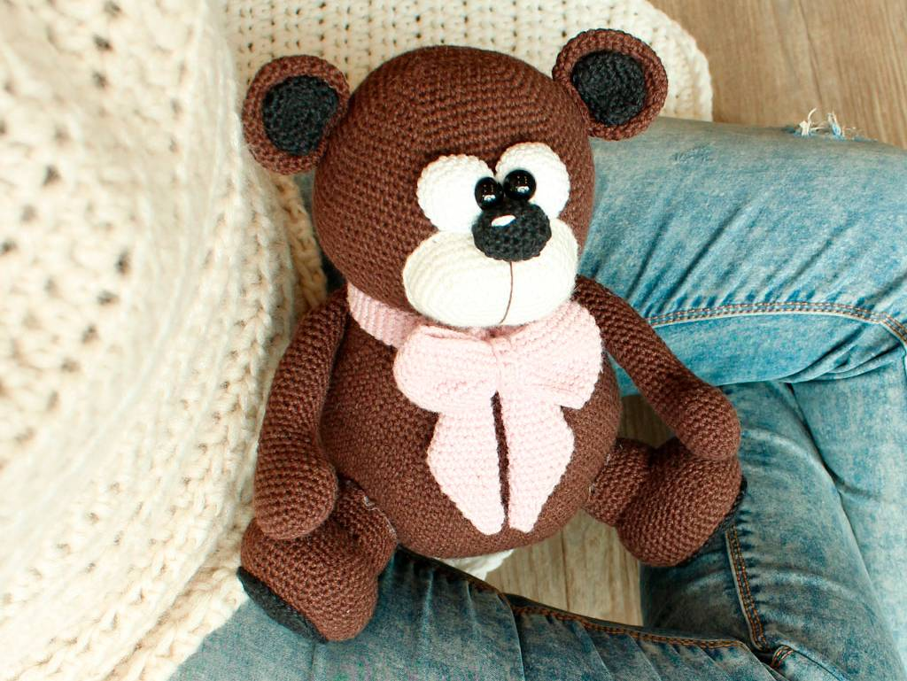 Tiere Häkeln Niedlicher Teddybär Für Kinder Bildderfraude