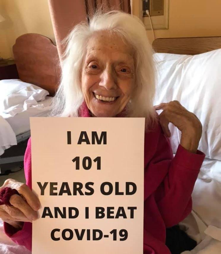 Angelina Friedman überlebt mit über 100 Jahren Covid-19.