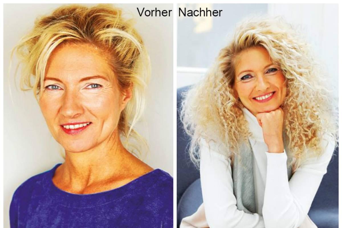 Frisuren Vorher Nachher Drei Frauen Beim Umstyling Bildderfrau De