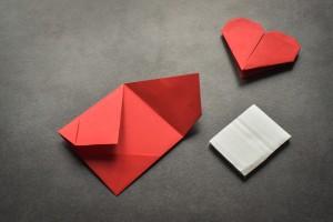 Hervorragend Hübsches Origami-Herz falten in nur 5 Minuten - bildderfrau.de DA97
