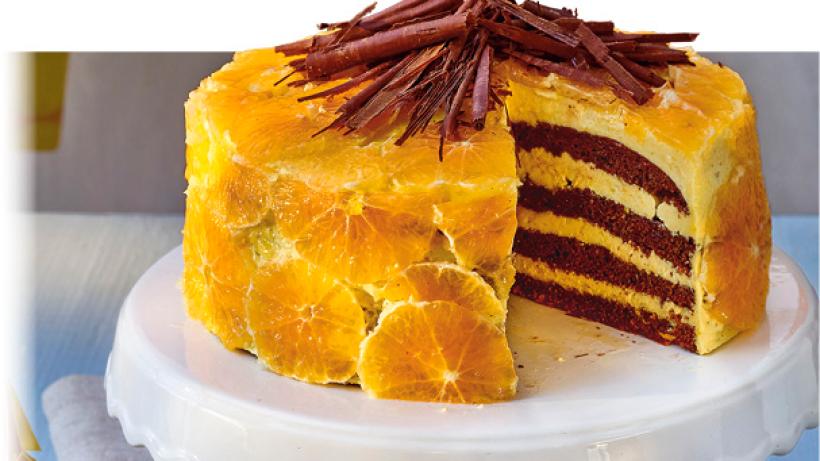 Traumhaft Leckere Orangen Schokoladen Torte Bildderfrau De