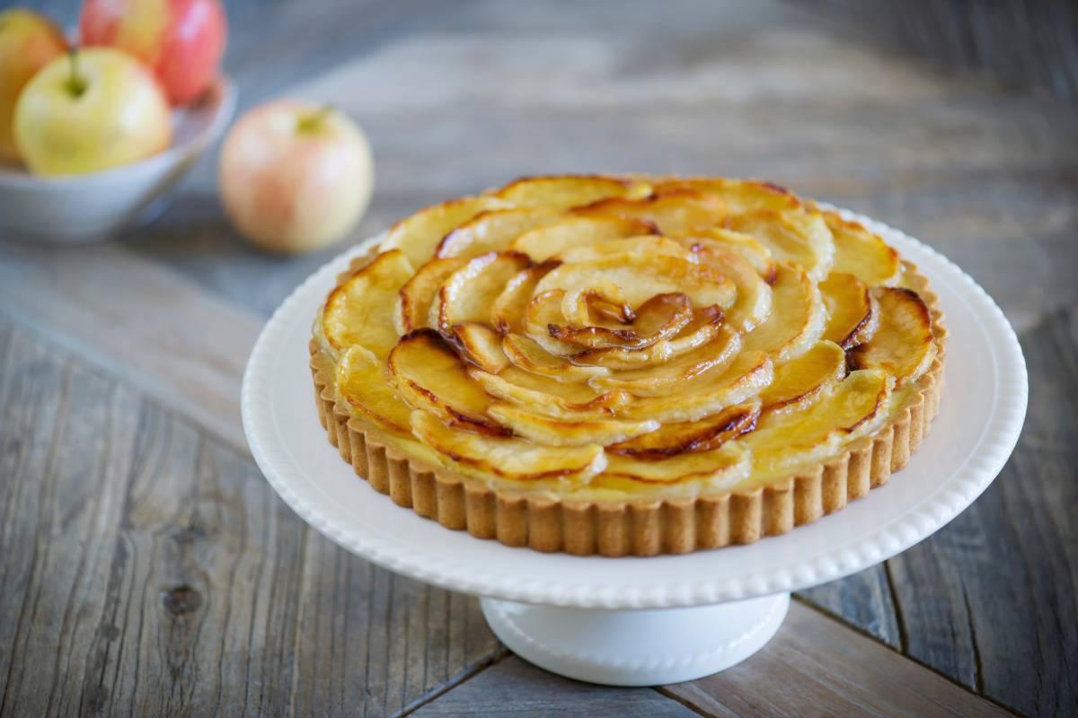 Tarte Aux Pommes Franzosische Apfeltarte Aus Murbeteig Bildderfrau De