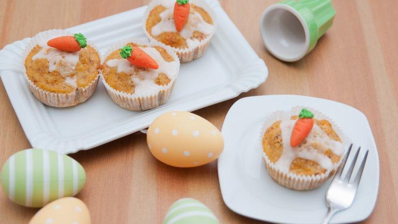 Rübli-Muffins mit süßen Deko-Möhrchen