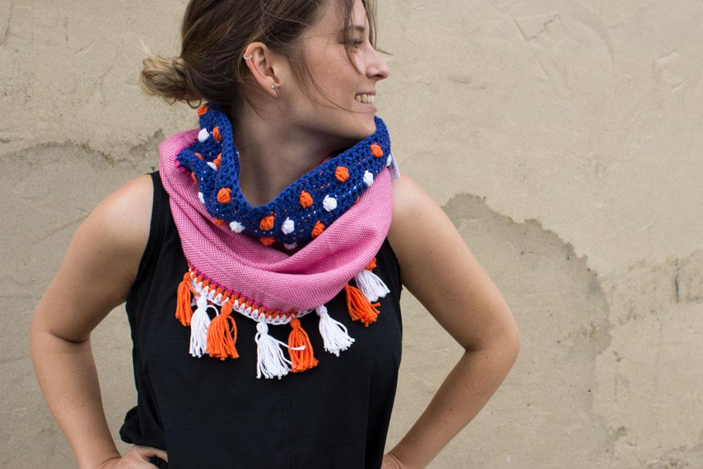 Schal und Tuch häkeln: kostenlose Anleitung mit Muster - Bild der Frau