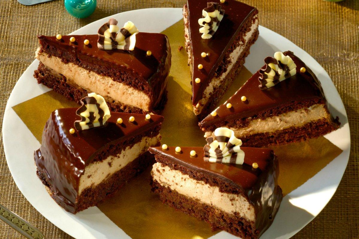 Schokoladenkuchen mit Brandy: cremig süße Verführung
