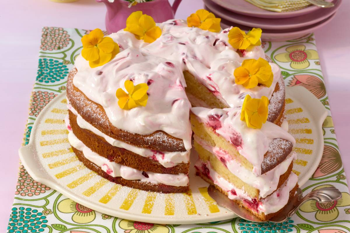 Joghurtkuchen Mit Kirschsahne Bildderfrau De