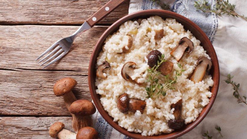 steinpilz risotto rezept mit frischen steinpilzen bild der frau. Black Bedroom Furniture Sets. Home Design Ideas