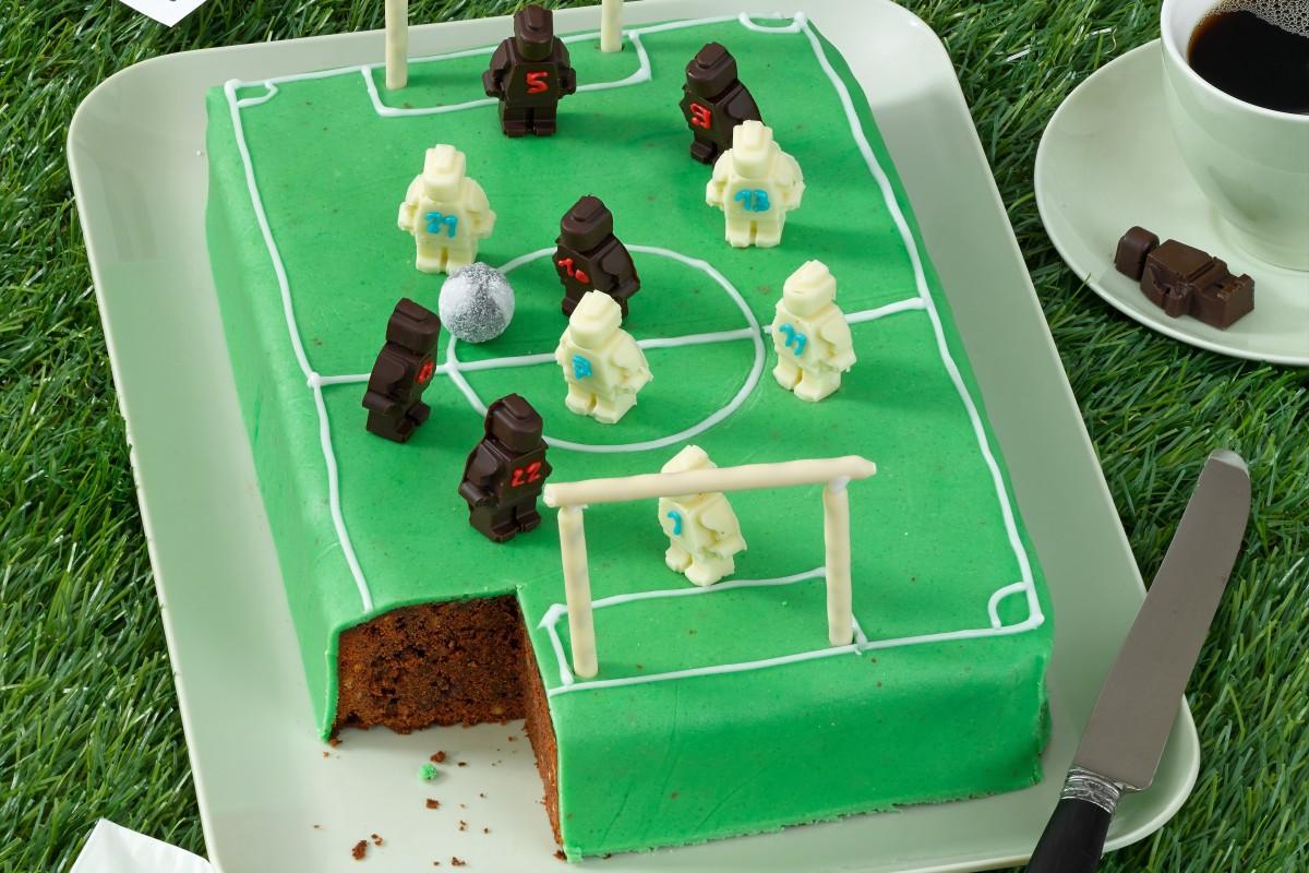 Fussball Torte Sportliches Schoko Fussballfeld