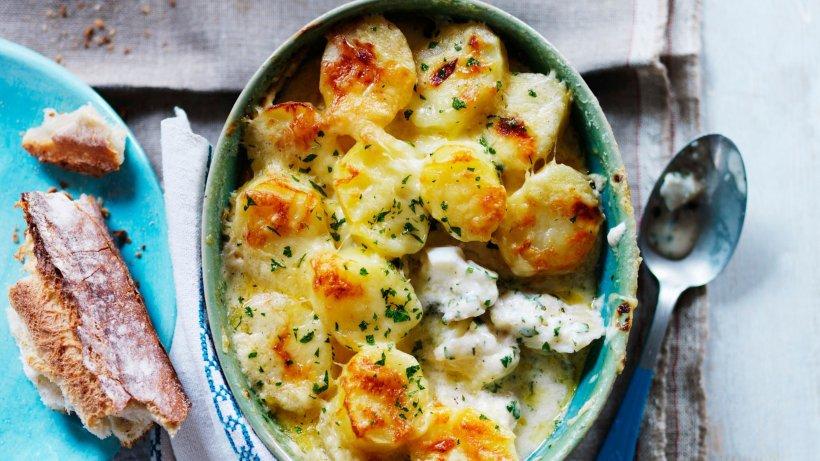 Fischauflauf mit Kartoffeln und Kräutern