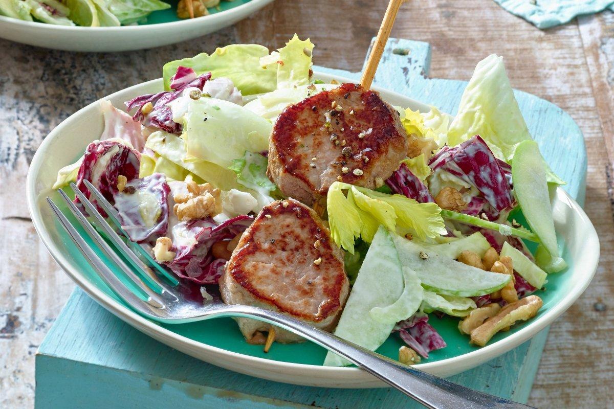 Waldorfsalat: Klassisches Rezept mit Schweinefilet