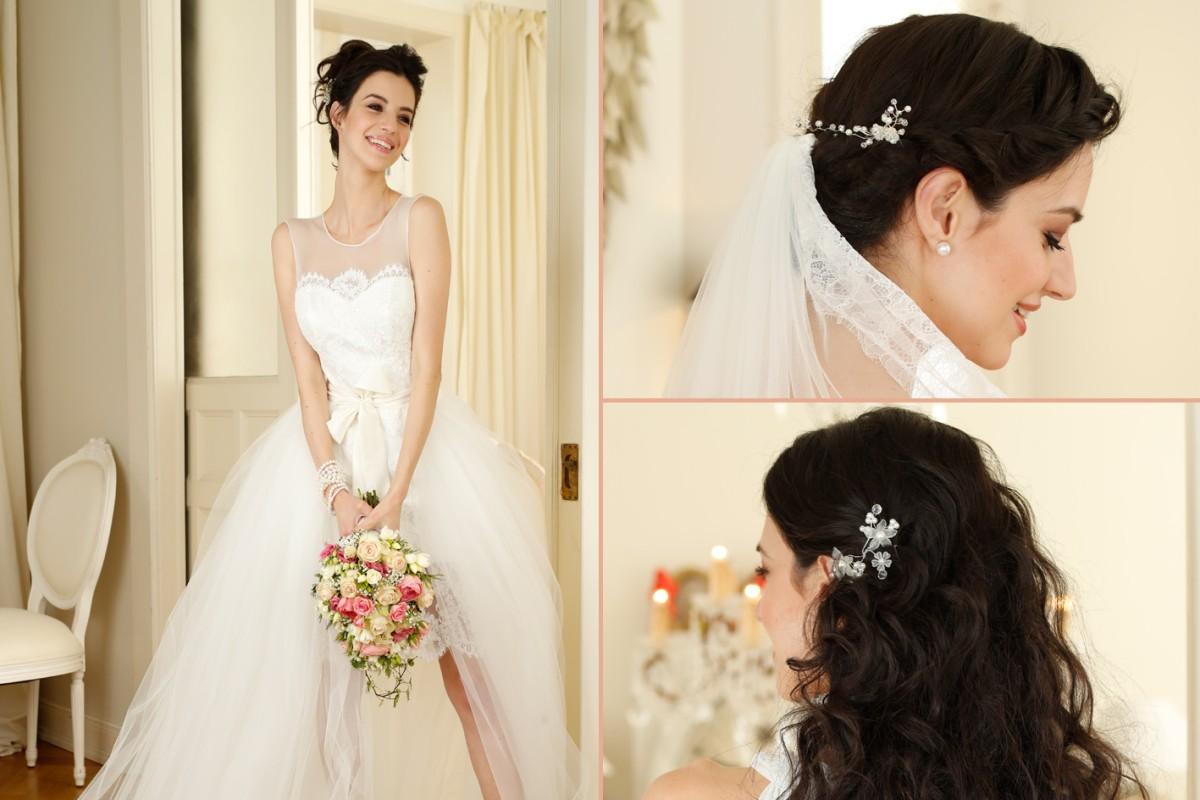 Hochzeit frisuren passend zum kleid