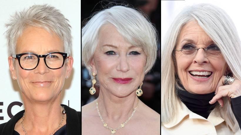 Star Look Schicke Frisuren Für Graue Haare Bildderfraude