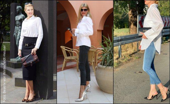 Klassiker Nummer 1: die weiße Bluse