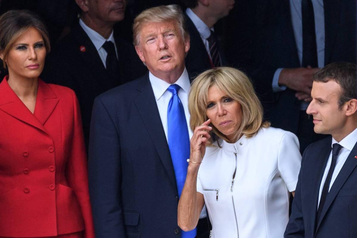 Trumps Peinlich Komplimente An Frankreichs First Lady Macron