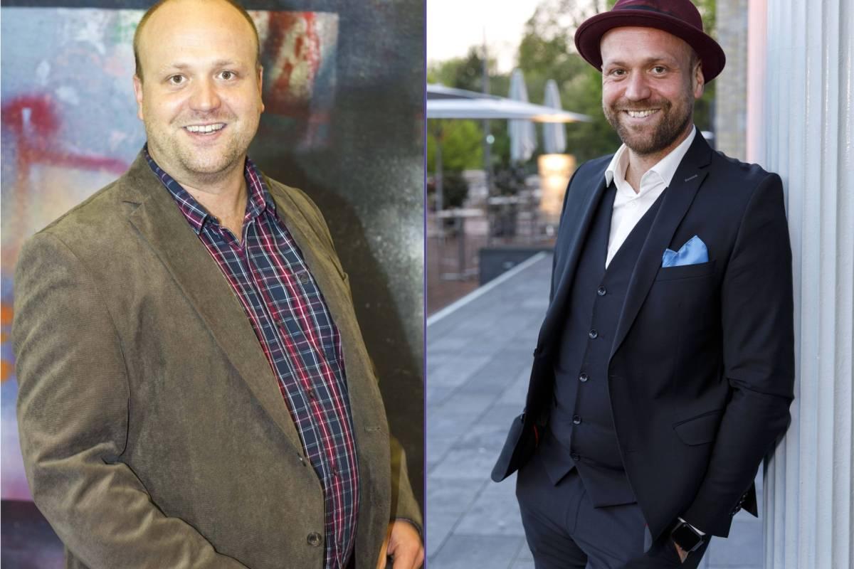 Schauspieler vor und nach dem Abnehmen