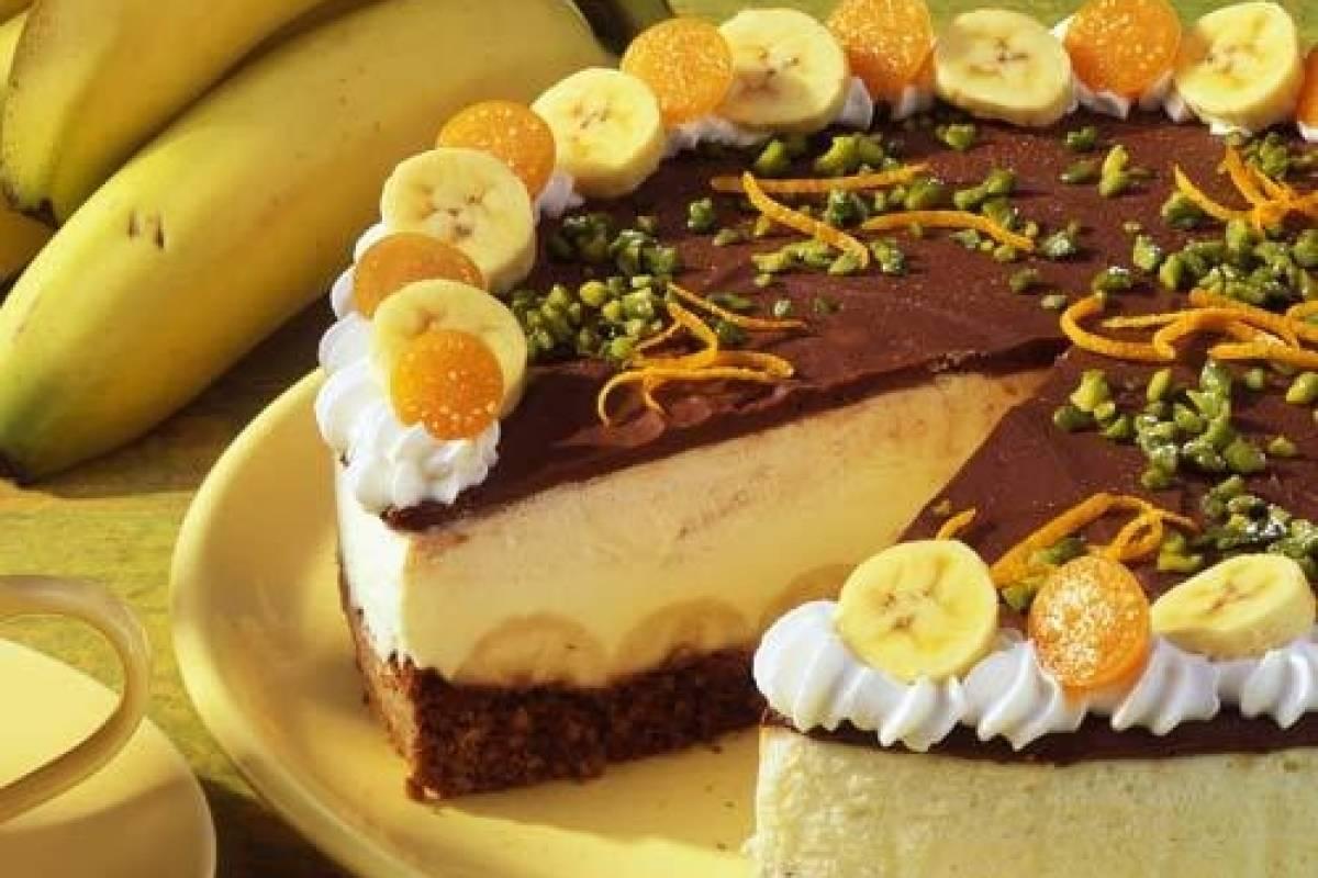 Schokoladen Bananen Torte Bildderfraude