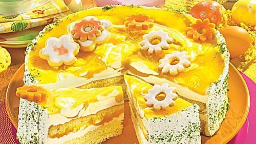 Mango Joghurt Torte Mit Frischkase Bildderfrau De