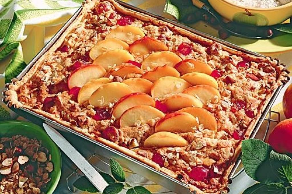 Apfel Haferflocken Kuchen Bildderfrau De