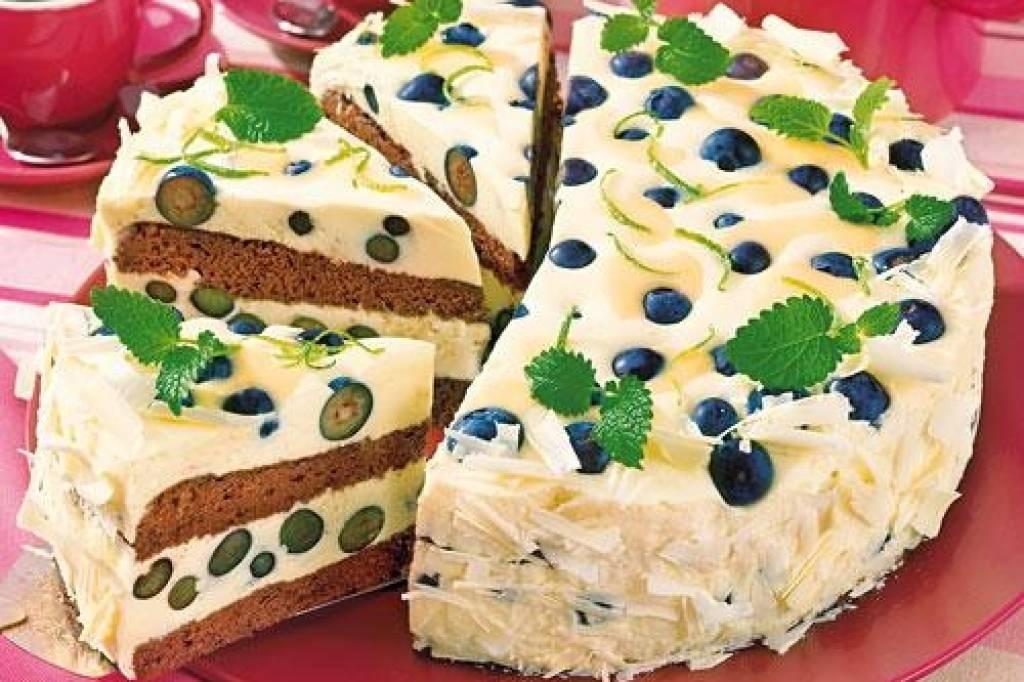 Heidelbeer Eierlikor Torte Mit Schokobiskuit Bildderfrau De