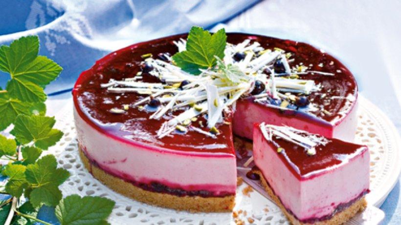 Kir royal torte - Kuchenspiegel mit fototapete ...