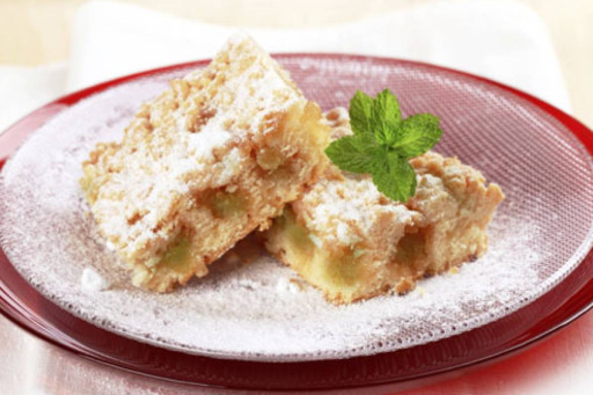 Stachelbeer Streusel Kuchen Mit Marmelade Bildderfrau De