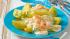 Kartoffeln mit Curry-Quark und Garnelen