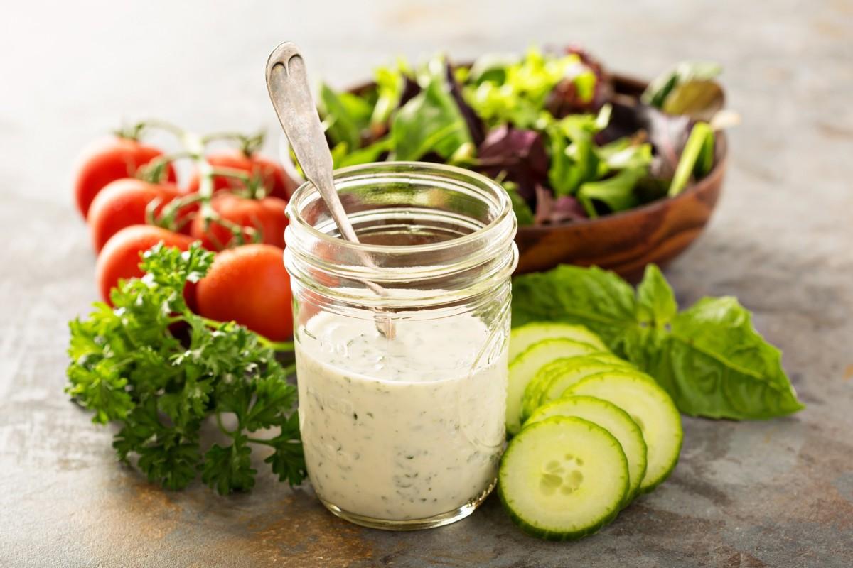 Joghurt Dressing Für Salat Schnelles Rezept Bildderfraude