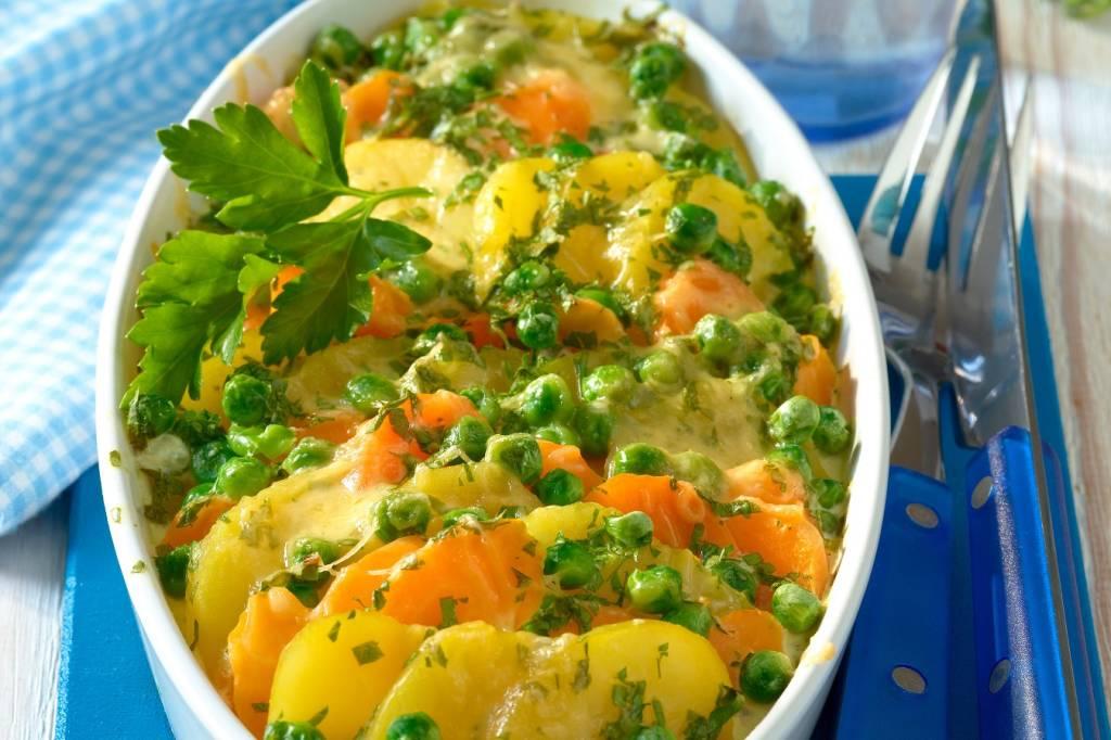 Einfaches Rezept Leckerer Gemuse Kartoffelauflauf Bildderfrau De