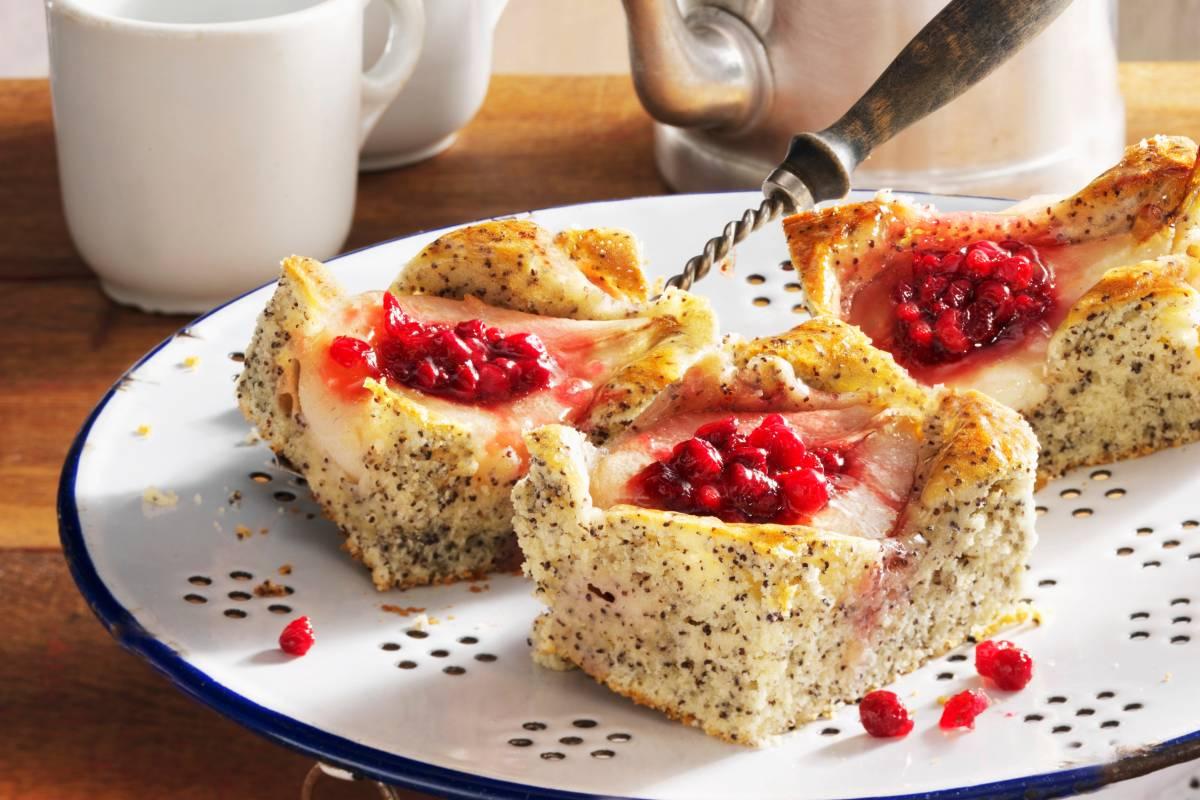 Mohn Quarkkuchen Mit Birnen Bildderfrau De