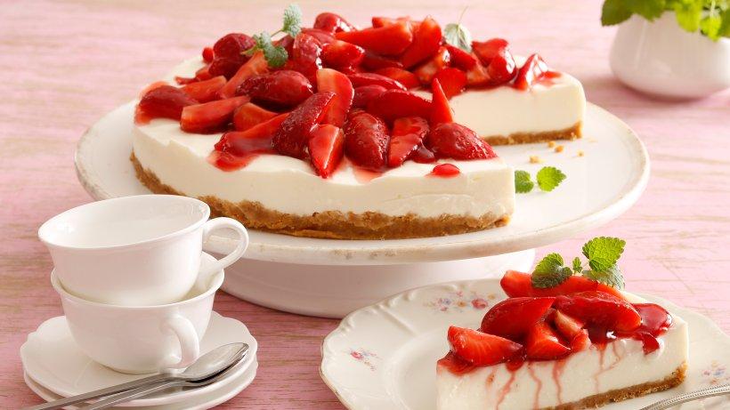 Erdbeer-Joghurttorte ohne Backen