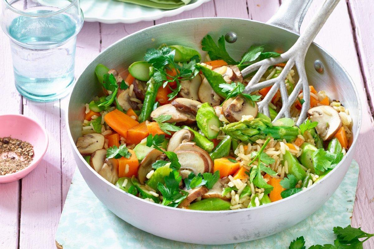 Reispfanne - vegetarisches Rezept