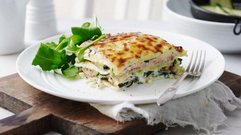 Öfter mal etwas anderes: Lasagne mit Lachs und Zucchini