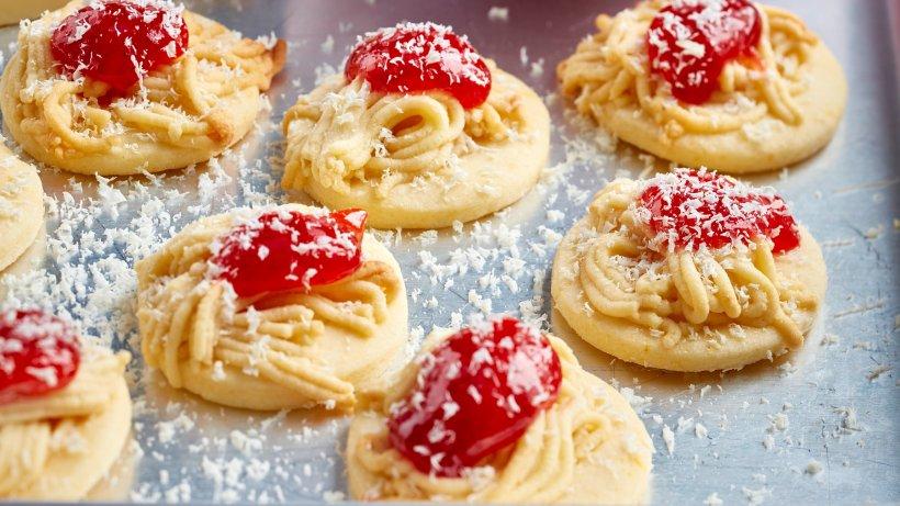 Ein Stück Sommer im Winter: Spaghetti-Eis-Kekse