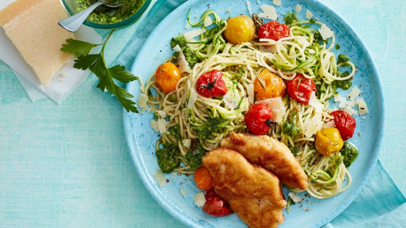Doc-Fleck-Rezept: Zucchini-Pasta mit Schnitzelchen