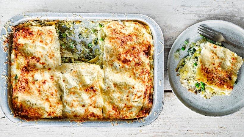 Vegetarische Lasagne mit Frühlingsgemüse