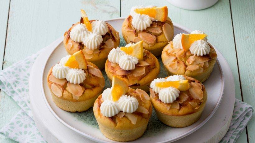 Ricottamuffins mit Orange und Mandeln sowie Xylit statt Zucker