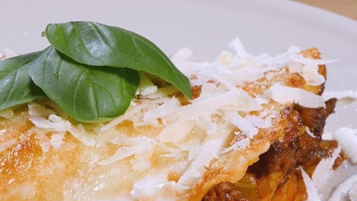 Vegetarische Spinatlasagne mit Pilzen & Ricotta